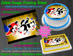Animaniacs Edible Image Icing Frosting Sheet #7 Cake Cupcake Cookie Topper