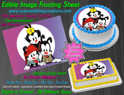Animaniacs Edible Image Icing Frosting Sheet #31 Cake Cupcake Cookie Topper