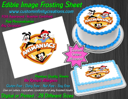 Animaniacs Edible Image Icing Frosting Sheet #33 Cake Cupcake Cookie Topper