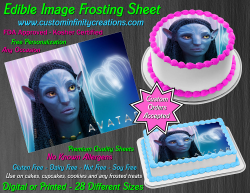 Avatar Edible Image Icing Frosting Sheet #23 Cake Cupcake Cookie Topper