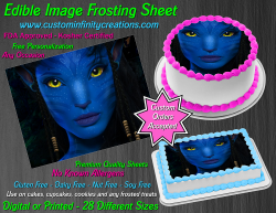 Avatar Edible Image Icing Frosting Sheet #55 Cake Cupcake Cookie Topper