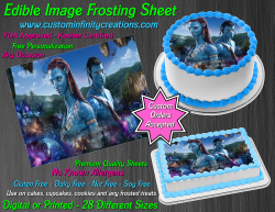 Avatar Edible Image Icing Frosting Sheet #61 Cake Cupcake Cookie Topper