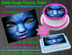 Avatar Edible Image Icing Frosting Sheet #64 Cake Cupcake Cookie Topper