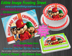 Alvin and the Chipmunks Edible Image Icing Frosting Sheet #6 Cake Cupcake Topper