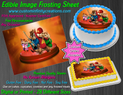 Alvin and the Chipmunks Edible Image Frosting Sheet #40 Cake Cupcake Topper