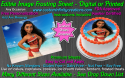 Moana Edible Image Icing Frosting Sheet #1 Cake Cupcake Cookie Topper