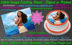 Moana Edible Image Icing Frosting Sheet #3 Cake Cupcake Cookie Topper