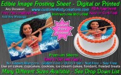 Moana Edible Image Icing Frosting Sheet #5 Cake Cupcake Cookie Topper