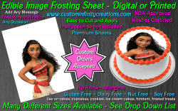 Moana Edible Image Icing Frosting Sheet #11 Cake Cupcake Cookie Topper