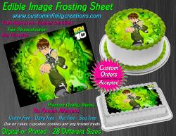 Ben 10 Edible Image Icing Frosting Sheet #1 Cake Cupcake Cookie Topper