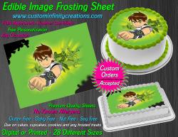 Ben 10 Edible Image Icing Frosting Sheet #2 Cake Cupcake Cookie Topper