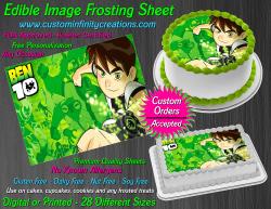 Ben 10 Edible Image Icing Frosting Sheet #31 Cake Cupcake Cookie Topper