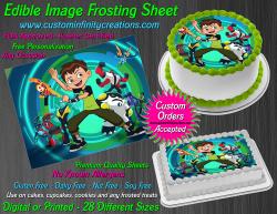 Ben 10 Edible Image Icing Frosting Sheet #46 Cake Cupcake Cookie Topper