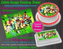 Ben 10 Edible Image Icing Frosting Sheet #49 Cake Cupcake Cookie Topper