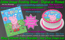 Peppa Pig Edible Image Icing Frosting Sheet #1 Cake Cupcake Cookie Topper