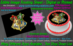 Harry Potter Hogwarts Edible Image Frosting Sheet #55 Cake Cupcake Cookie Topper