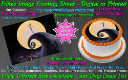 Nightmare Before Christmas Edible Image Frosting Sheet #2 Cake Cupcake Topper