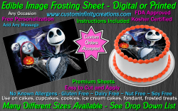 Nightmare Before Christmas Edible Image Frosting Sheet #4 Cake Cupcake Topper