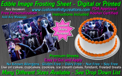 Nightmare Before Christmas Edible Image Frosting Sheet #22 Cake Cupcake Topper