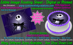Nightmare Before Christmas Edible Image Frosting Sheet #28 Cake Cupcake Topper