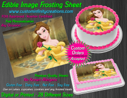 Beauty and the Beast Edible Image Frosting Sheet #21 Cake Cupcake Cookie Topper