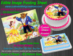 Beauty and the Beast Edible Image Frosting Sheet #26 Cake Cupcake Cookie Topper