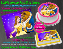 Beauty and the Beast Edible Image Frosting Sheet #43 Cake Cupcake Cookie Topper
