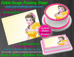 Beauty and the Beast Edible Image Frosting Sheet #44 Cake Cupcake Cookie Topper