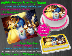 Beauty and the Beast Edible Image Frosting Sheet #56 Cake Cupcake Cookie Topper