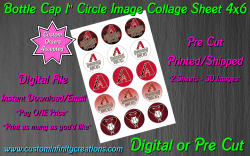 Arizona Diamondbacks Bottle Cap 1 Circle Images #4 (digital or pre cut)