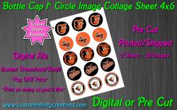 Baltimore Orioles Baseball Bottle Cap 1 Circle Images #2 (digital or pre cut)