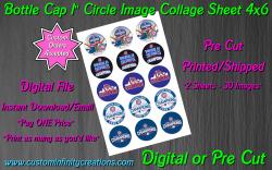 Chicago Cubs Baseball Bottle Cap 1 Circle Images Sheet #9 (digital or pre cut)