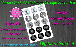 Chicago White Sox Bottle Cap 1 Circle Images Sheet #3 (digital or pre cut)