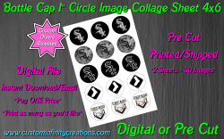 Chicago White Sox Bottle Cap 1 Circle Images Sheet #5 (digital or pre cut)