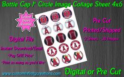 Los Angeles Angels Baseball Bottle Cap 1 Circle Images #3 (digital or pre cut)