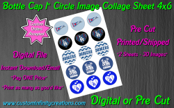 Los Angeles Dodgers Baseball Bottle Cap 1 Circle Images #3 (digital or pre cut)