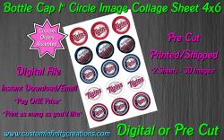 Minnesota Twins Baseball Bottle Cap 1 Circle Images #2 (digital or pre cut)