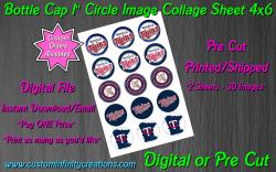 Minnesota Twins Baseball Bottle Cap 1 Circle Images #3 (digital or pre cut)