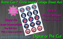Minnesota Twins Baseball Bottle Cap 1 Circle Images #4 (digital or pre cut)