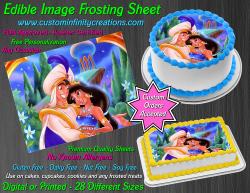 Aladdin Jasmine Edible Image Icing Frosting Sheet #48 Cake Cupcake Cookie Topper