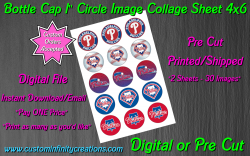 Philadelphia Phillies Baseball Bottle Cap 1 Circle Images #1 digital or pre cut