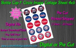 Philadelphia Phillies Baseball Bottle Cap 1 Circle Images #2 digital or pre cut