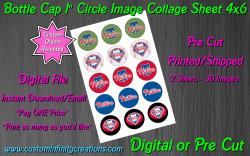 Philadelphia Phillies Baseball Bottle Cap 1 Circle Images #3 digital or pre cut