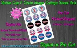 Philadelphia Phillies Baseball Bottle Cap 1 Circle Images #4 digital or pre cut