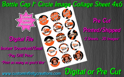 San Francisco Giants Baseball Bottle Cap 1 Circle Images #2x digital or pre cut
