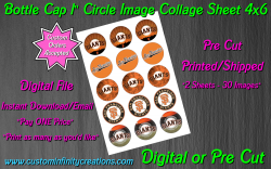 San Francisco Giants Baseball Bottle Cap 1 Circle Images #4 digital or pre cut