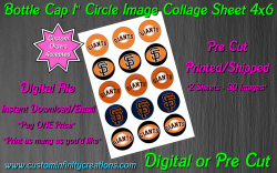 San Francisco Giants Baseball Bottle Cap 1 Circle Images #5 digital or pre cut