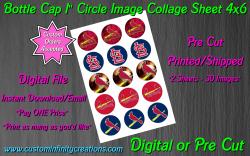 St Louis Cardinals Baseball Bottle Cap 1 Circle Images #1 (digital or pre cut)