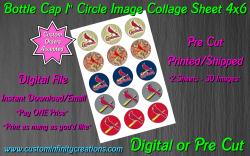 St Louis Cardinals Baseball Bottle Cap 1 Circle Images #2 (digital or pre cut)
