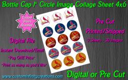 St Louis Cardinals Baseball Bottle Cap 1 Circle Images #4 (digital or pre cut)